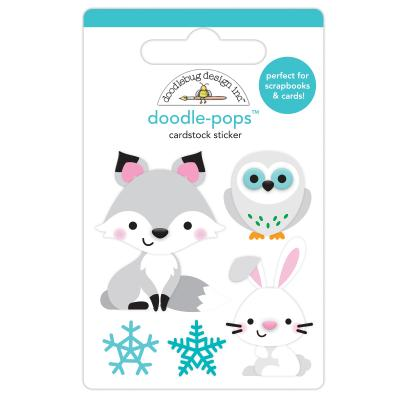 Doodlebug Winter Wonderland Doodle-Pops - Foxy & Friends