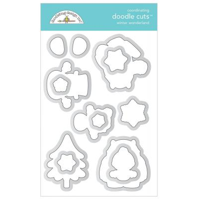 Doodlebug Winter Wonderland doodle cuts - Winter Wonderland