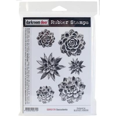 Darkroom Door Rubber Stamps - Succulents