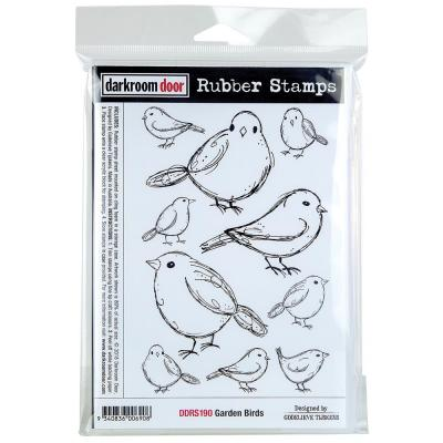 Darkroom Door Rubber Stamps - Garden Birds