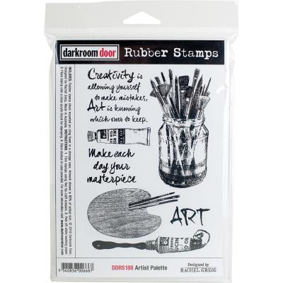 Darkroom Door Rubber Stamps - Artist Palette