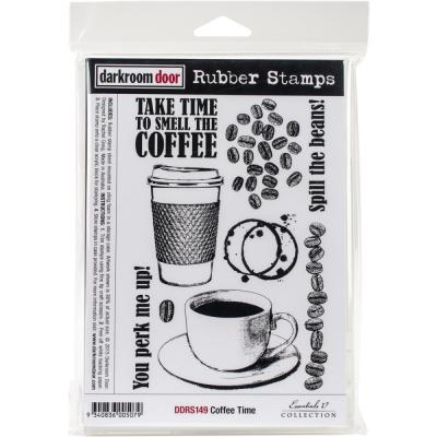Darkroom Door Rubber Stamps - Coffee Time