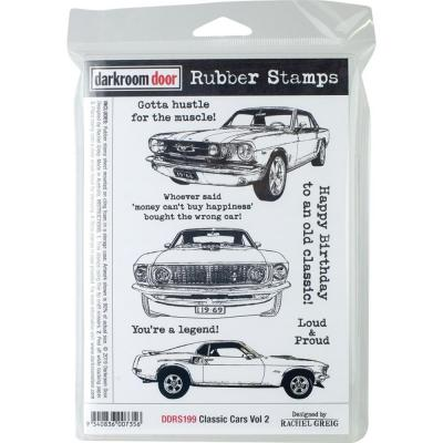 Darkroom Door Rubber Stamps - Classic Cars Vol 2