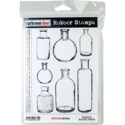 Darkroom Door Rubber Stamps - Bottles