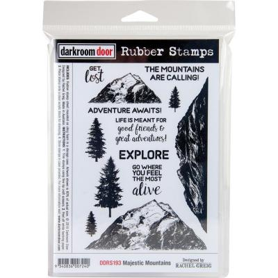 Darkroom Door Rubber Stamps - Majestic Mountains