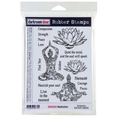 Darkroom Door Rubber Stamps - Meditation