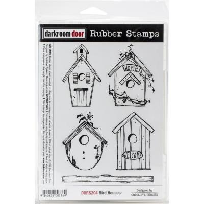 Darkroom Door Rubber Stamps - Bird Houses