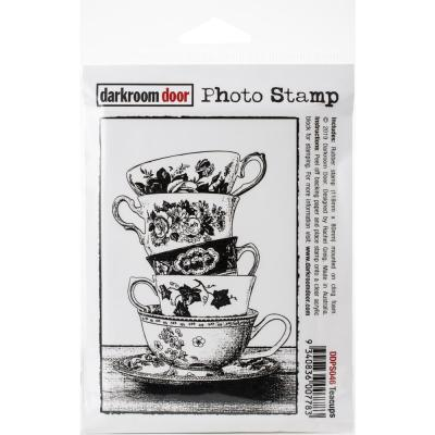 Darkroom Door Rubber Stamp - Teacups