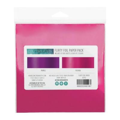 Concord & 9th Foil Paper Pack - Flirty Foil