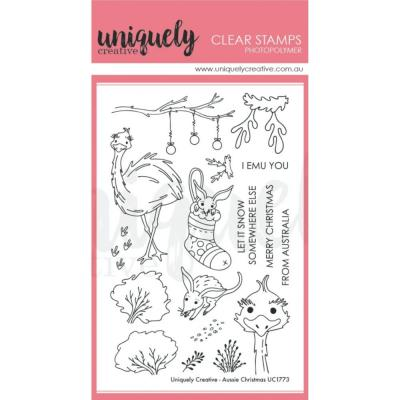 Uniquely Creative Clear Stamps - Aussie Christmas
