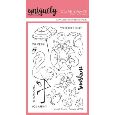 Uniquely Creative Clear Stamps - Flamazing