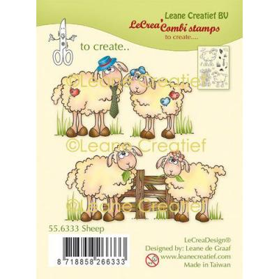 Leane Creatief Clear Stamps - Schafe