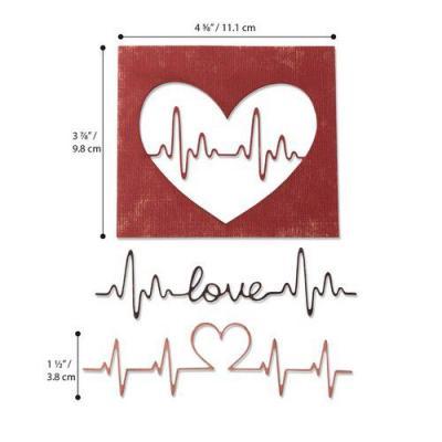 Sizzix Sizzlits Strip HEARTS HAPPY Intricate Beautiful!