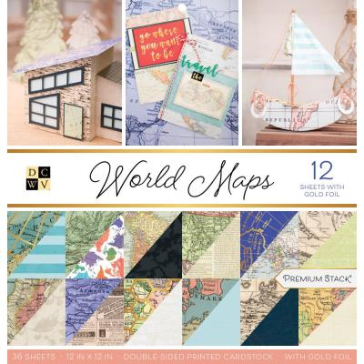 DCWV Designpapier - World Maps