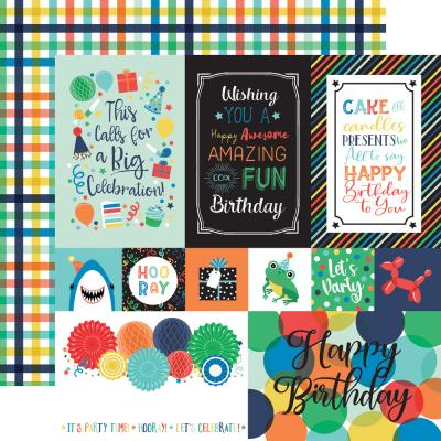 Echo Park It's Your Birthday Boy Designpapier - Multi Journaling Cards