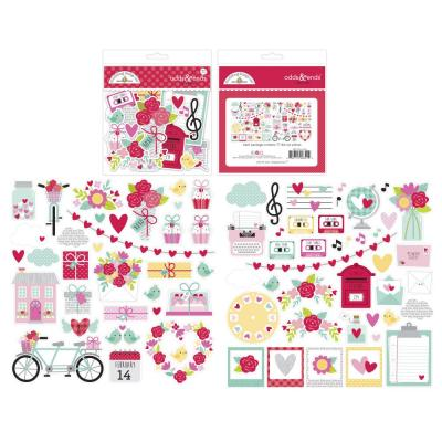 Doodlebug Love Notes Die Cuts - Odds & Ends