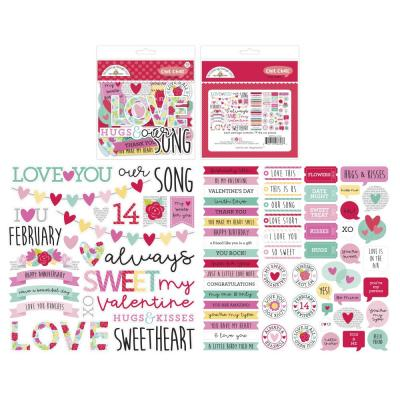Doodlebug Love Notes Die Cuts - Chit Chat
