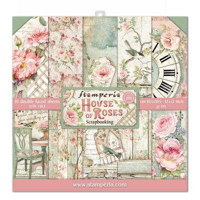 Stamperia House of Roses Designpapier - Paper Pack