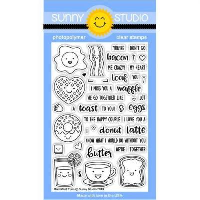 Sunny Studio Clear Stamps - Breakfast Puns
