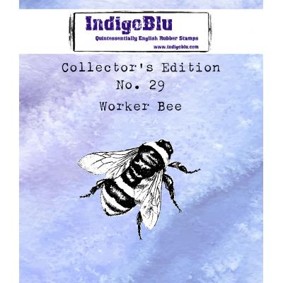 IndigoBlu Rubber Stamp - Collector's No. 29 Worker Bee