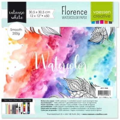 Vaessen Creative Florence - Aquarellpapier Smooth Intense White
