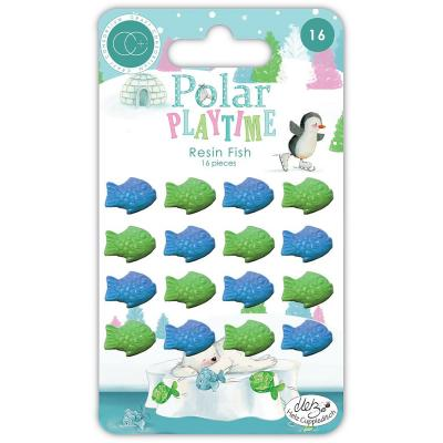 Craft Consortium Polar Playtime Embellishments - Resin Fish
