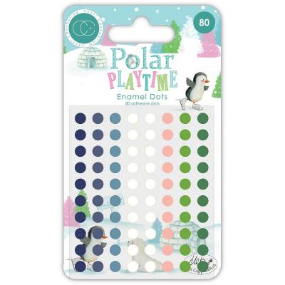 Craft Consortium Polar Playtime Embellishments - Adhesive Enamel Dots