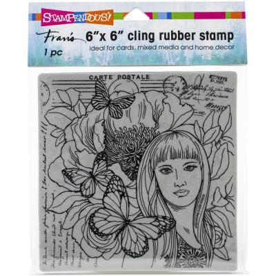 Stampendous Cling Stamp - Butterfly Beauty