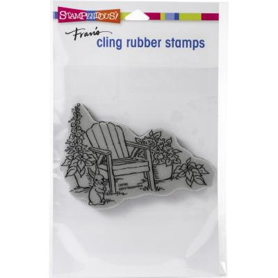 Stampendous Cling Stamp - Bunny Chair