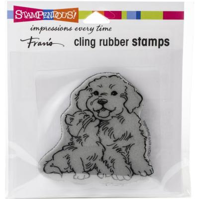 Stampendous Cling Stamp - Kitty Kiss