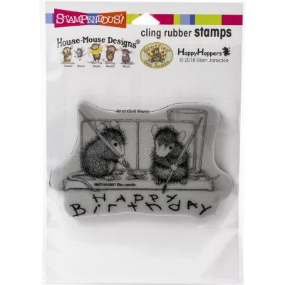 Stampendous House Mouse Cling Stamp - Watercolor Wish
