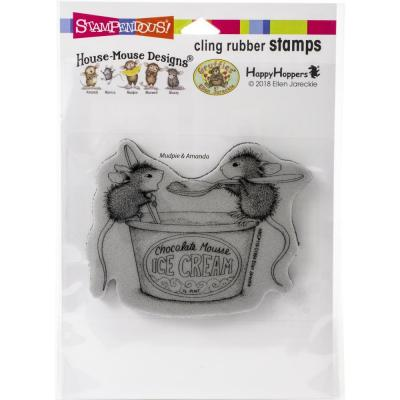 Stampendous House Mouse Cling Stamp - Mousse Mice