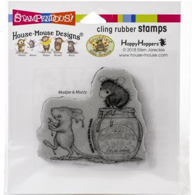 Stampendous House Mouse Cling Stamp - Chocolate Dip
