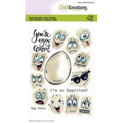 CraftEmotions Clear Stamps - Eiergesichter