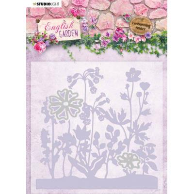 StudioLight English Garden Embossing Folder With Die - nr.04