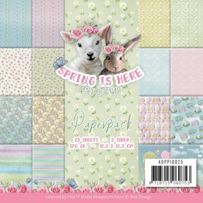 Amy Design Spring Is Here Designpapier - Paper Pack
