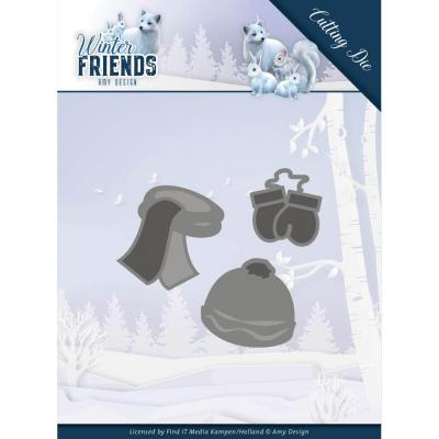 Amy Design Winter Friends Die - Warm Winter Clothes
