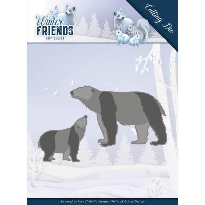 Amy Design Winter Friends Die - Polar Bears