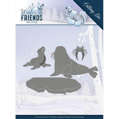 Amy Design Winter Friends Die - Polar Friends