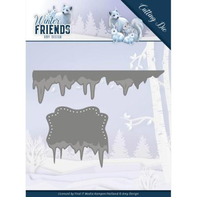 Amy Design Winter Friends Die - Ice Border