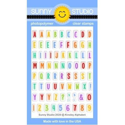 Sunny Studio Clear Stamps - Kinsley Alphabet