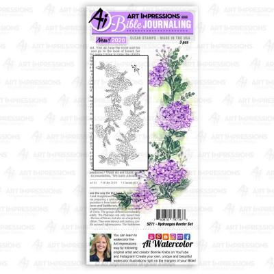 Art Impressions Bible Journaling Clear Stamps - Hydrangea Border