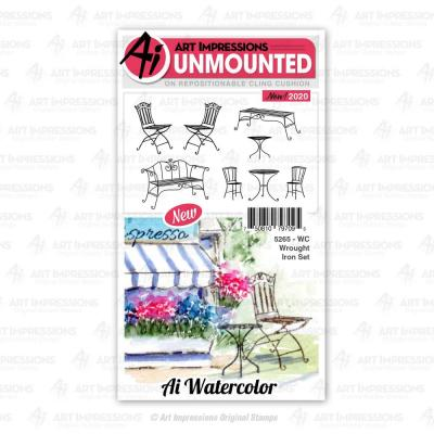 Art Impressions Watercolor Cling Stamps - Wrought Iron