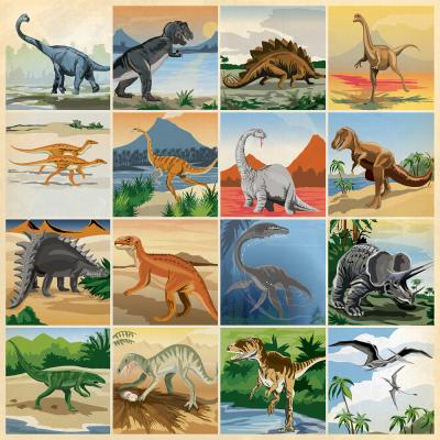 Carta Bella Dinosaurs Designpapier -  3 x 3 Journaling Cards
