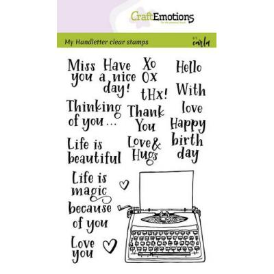 CraftEmotions Clear Stamps - Typewriter Quotes Handletter