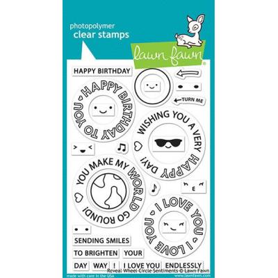 Lawn Fawn Clear Stamps - Reveal Wheel Circle Sentiments