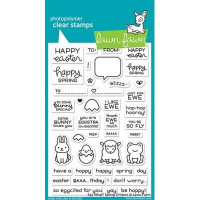 Lawn Fawn Clear Stamps - Say What? Spring Critters