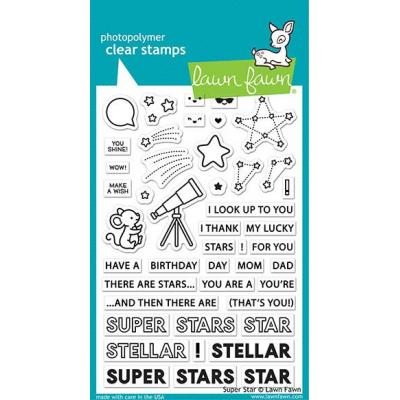 Lawn Fawn Clear Stamps - Super Star