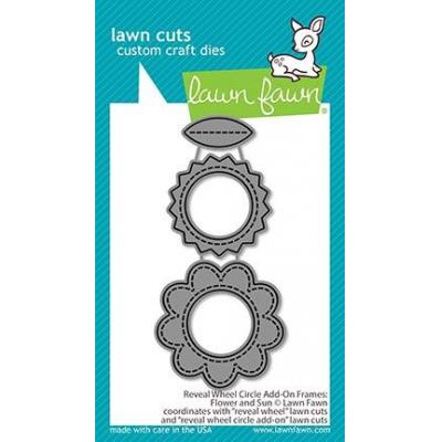 Lawn Fawn Lawn Cuts -Reveal Wheel Circle Flower And Sun Add-On