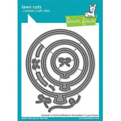 Lawn Fawn Lawn Cuts - Outside In Stitched Balloon Stackables